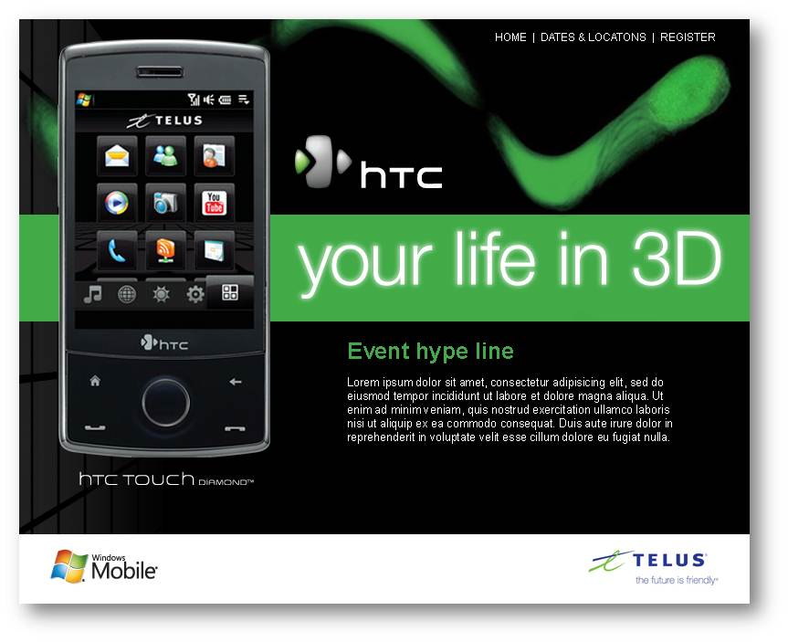 The HTC/Telus Touch Diamond Launch – 8 cities